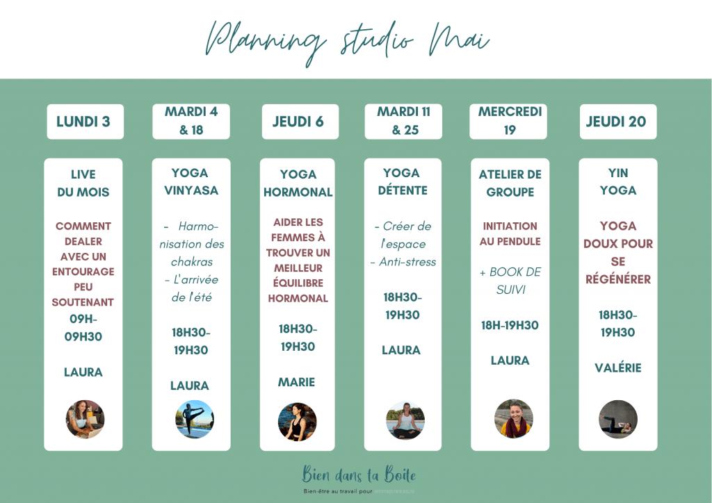 programme mai yoga